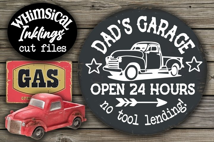 Dads Garage-No Tool Lending SVG