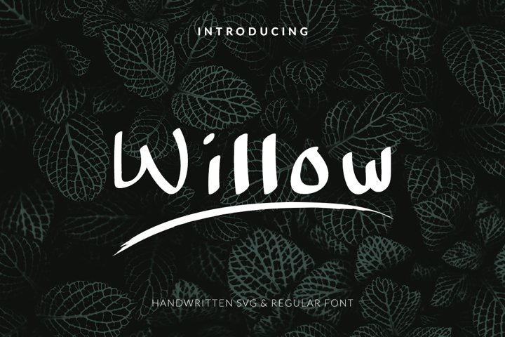 Willow Handwritten Font