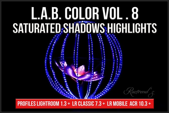 LAB Color Vol. 8 Saturated Shadows Highlights profiles