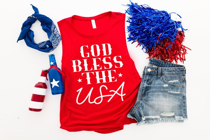 God Bless the USA, 4th of July, Patriotic SVG