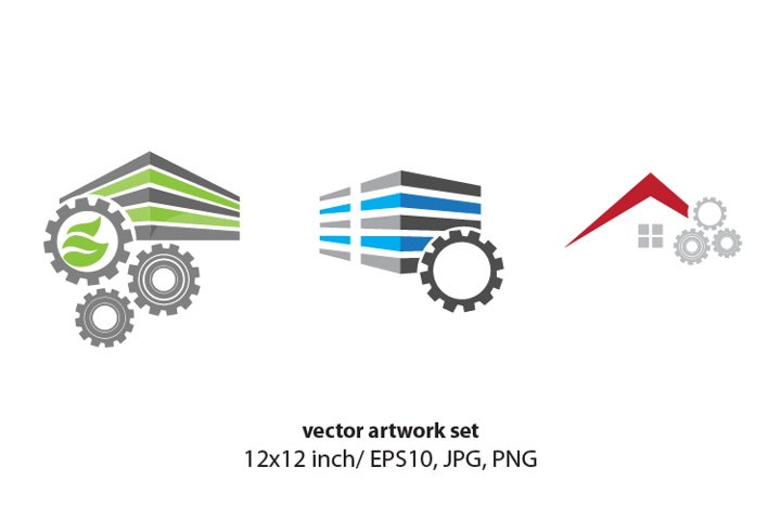 gears - VECTOR ARTWORK SET