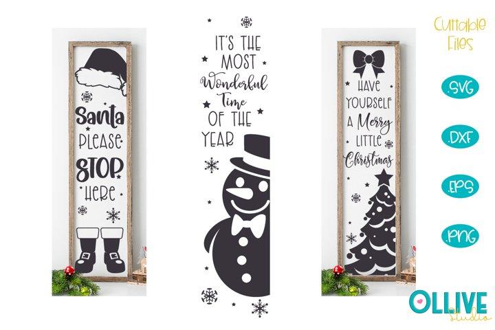 Christmas Vertical Porch Sign SVG Mini Bundle