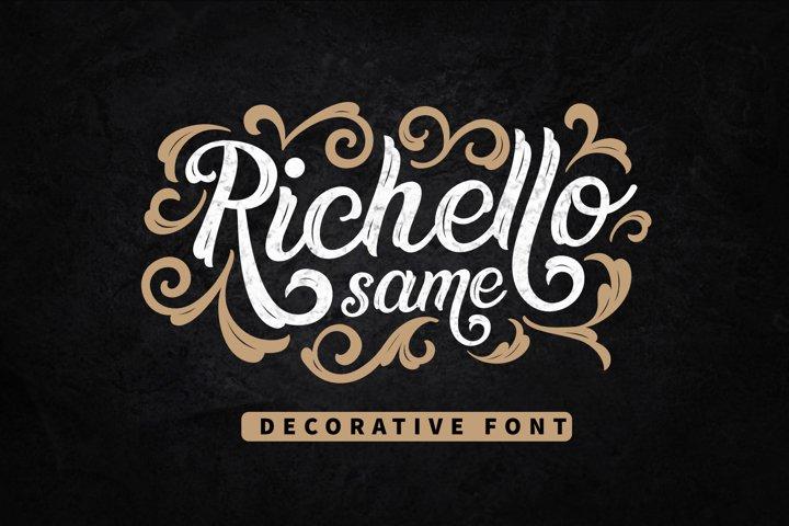 Richello Same - Decorative Font