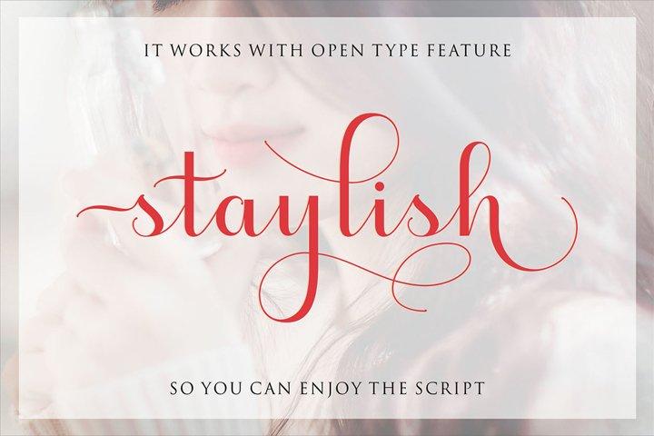 Staylish Script Upright