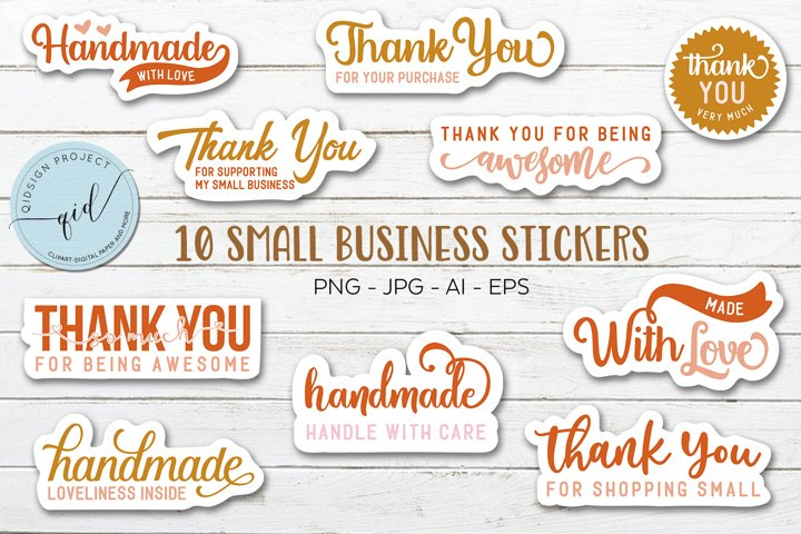 10 Small Business Stickers for Insert and Packaging Orders