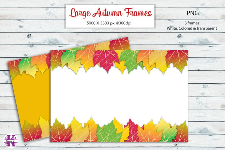 Autumn Leaves Frame Background PNG