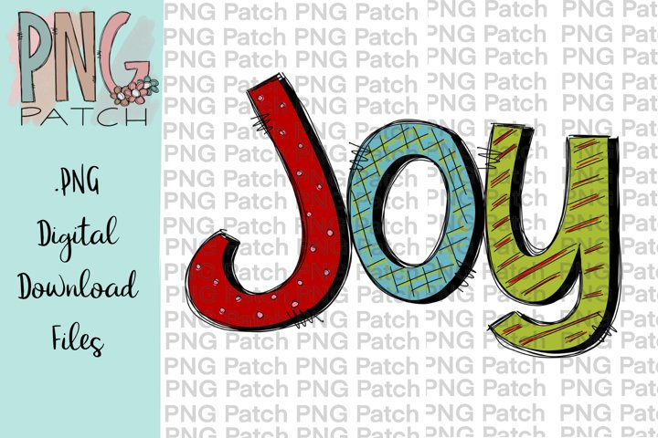 Colorful Joy, Christmas PNG File, Holiday Sublimation Design