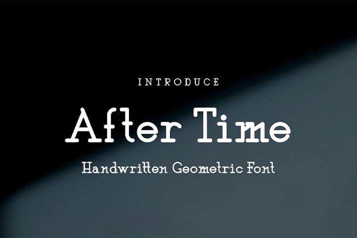 After Time || handwritten font