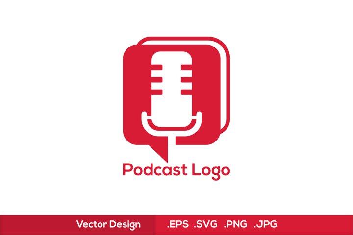 Podcast Logo - Red