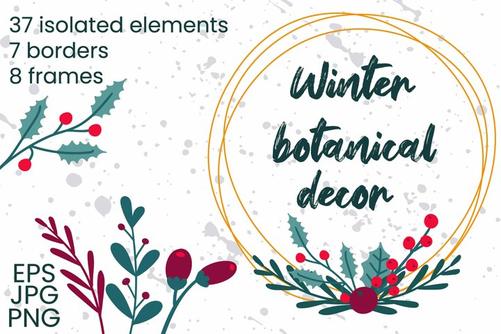 Winter botanical decor