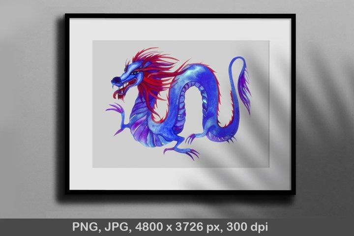 Dragon. T-shirt sublimation. Png, jpg