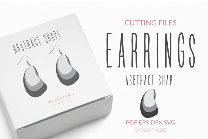 Earrings Abstract shape cutting files