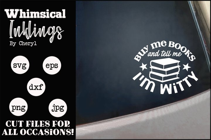 Buy Me Books SVG