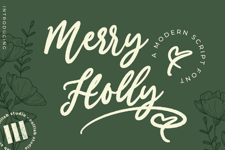 Merry Holly - A Modern Script Font