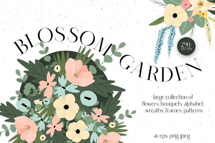 BLOSSOM GARDEN   Floral Clip Art
