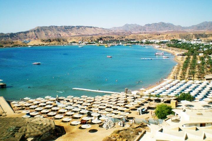 Red Sea in city Sharm el Sheikh. Egypt