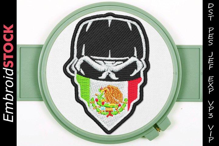 Mexican Mask Skull Design