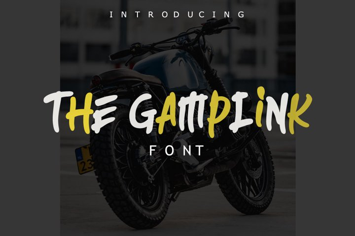 The Gamplink Font