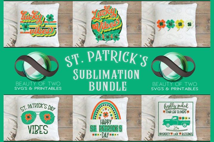 Sublimation St Patricks Day Retro Bundle 6 png Vintage Lucky