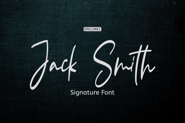 Jack Smith - Signature Script Font