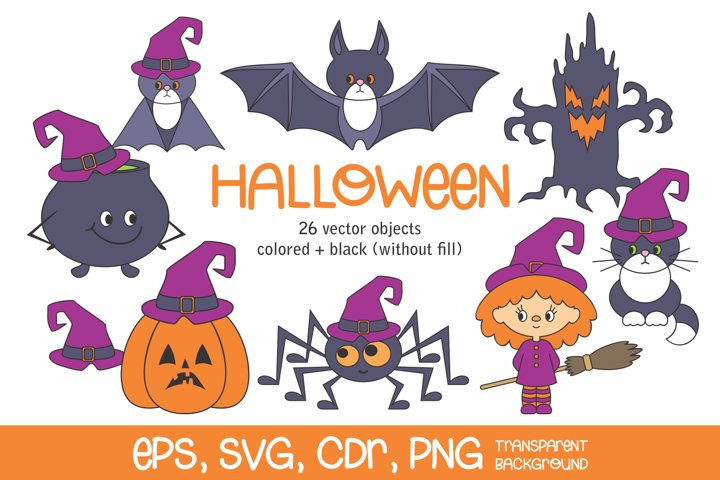 Halloween vector clip art