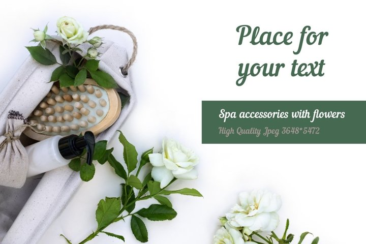 Eco set of spa accessories with flowers