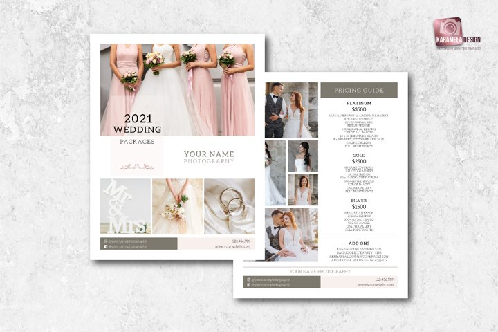 Pricelist Template for Photographers