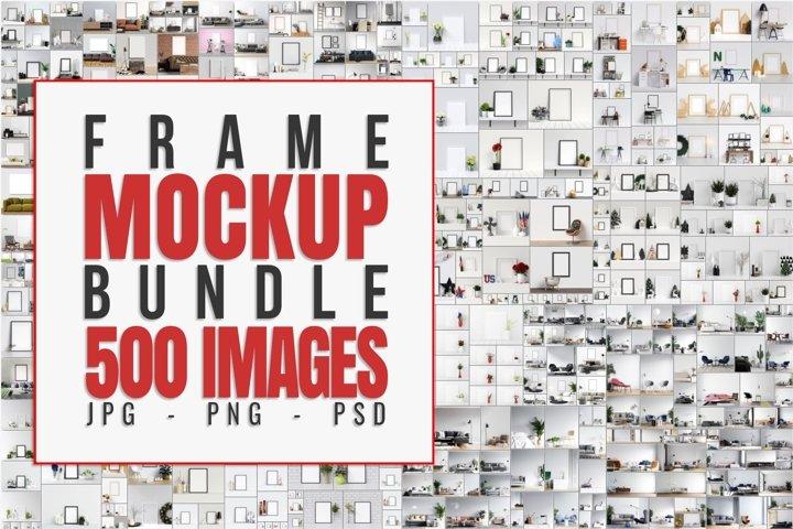 500 Frame & Wall Mockup Bundles