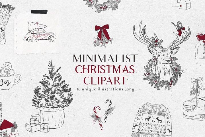 Minimalist Christmas clipart