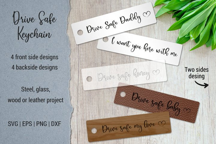 Drive safe keychain for Leather craft | New driver gift |SVG