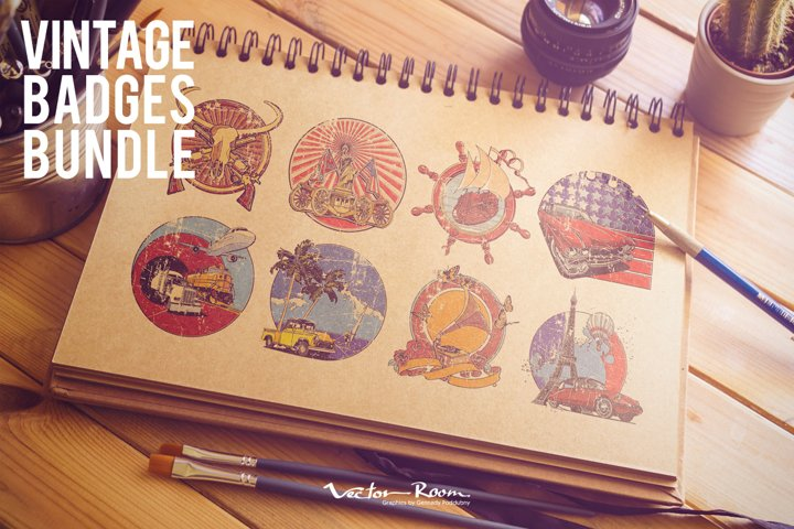 Vintage Badges Bundle