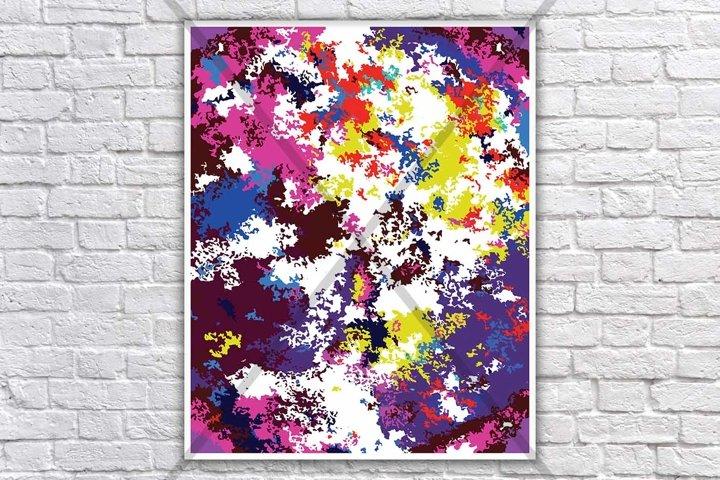 Rainbow colors print, Abstract colourful, Abstract Wall art, Modern multi color art, Home decor, Colorful printable, Splash back printable