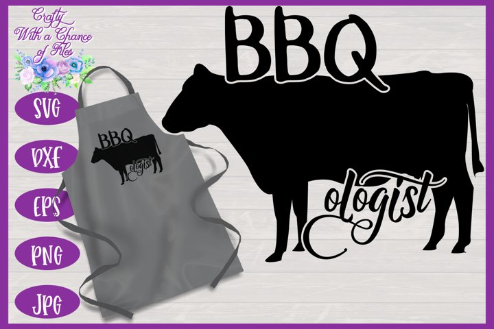 BBQologist with Cow SVG | Fathers Day BBQ Grill Apron