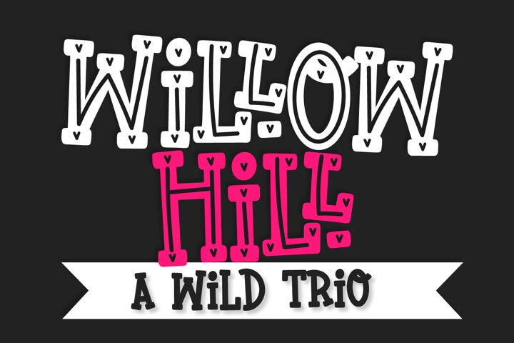 Willow Hill - A Quirky Thick Serif Trio
