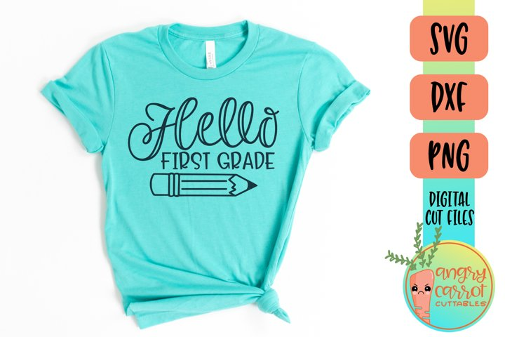 Hello First Grade SVG Files | School Shirt SVG