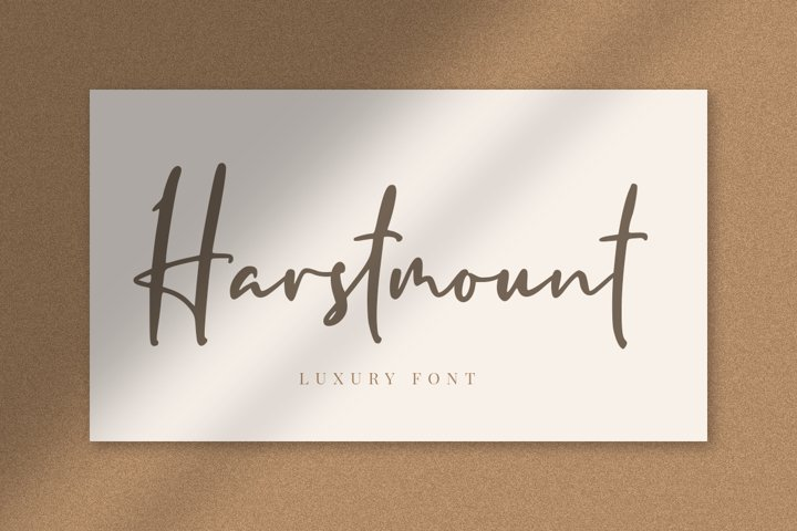 Harstmount // Luxury Signature Font
