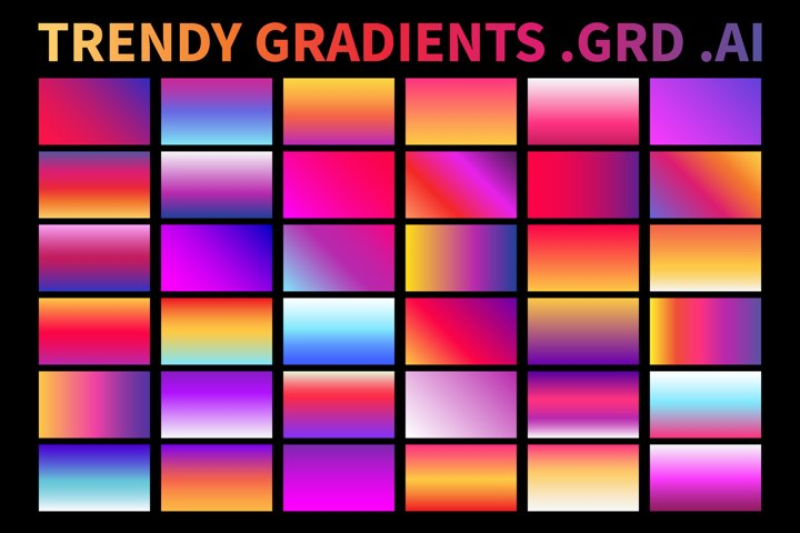 Trendy Gradients .AI .GRD Vector