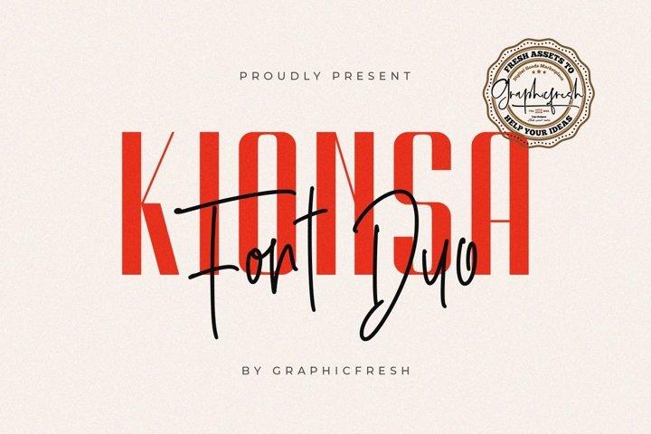 Kionsa - Ultra Condensed Font Duo