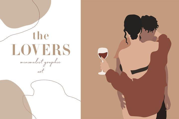 The Lovers Minimalist Graphic Art