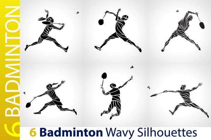 Badminton Players / Badminton Black Abstract Silhouettes