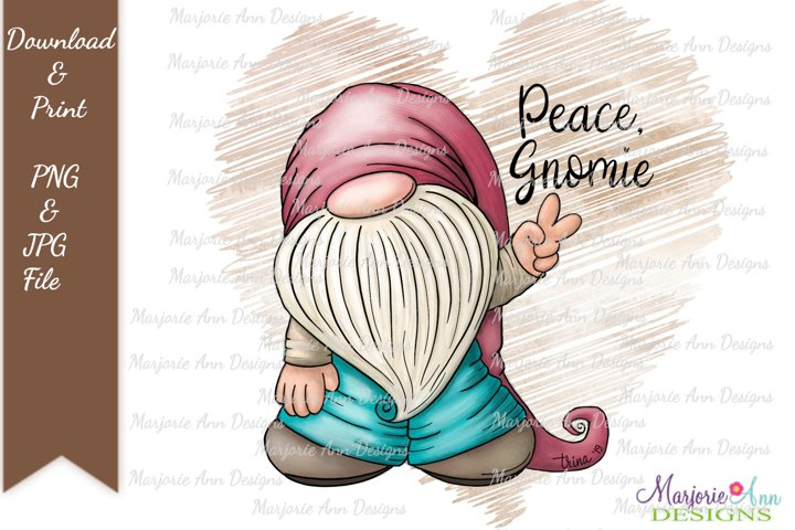 Peace Gnomie 5 PNG Sublimation Designs For T Shirts
