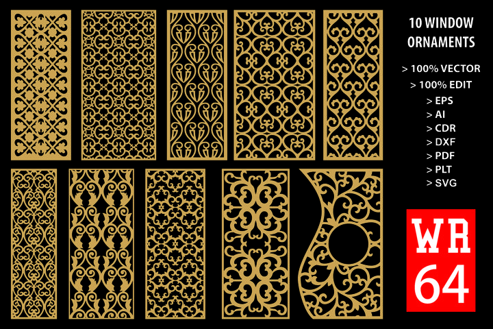 WR 64, Carved Window Ornaments Laser Cutting