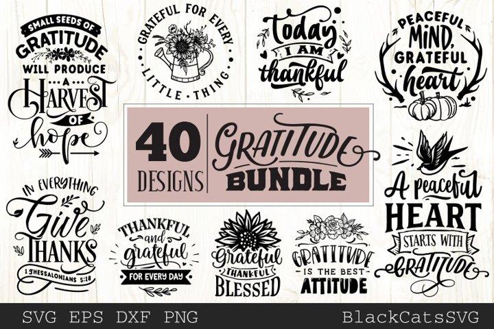 Gratitude SVG bundle 40 designs Grateful SVG
