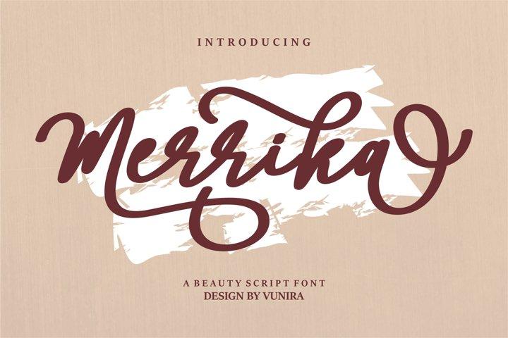 Merrika   A Beauty Script Font