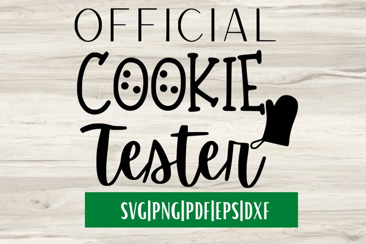 Official Cookie Tester SVG| Christmas SVG