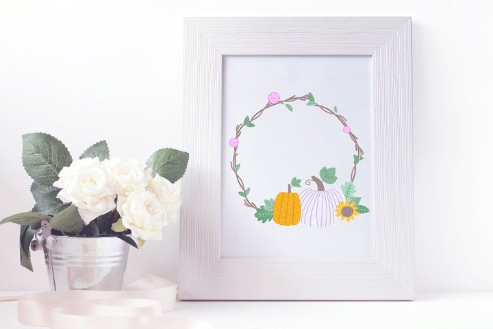 Fall Wreath Clipart PNG 8