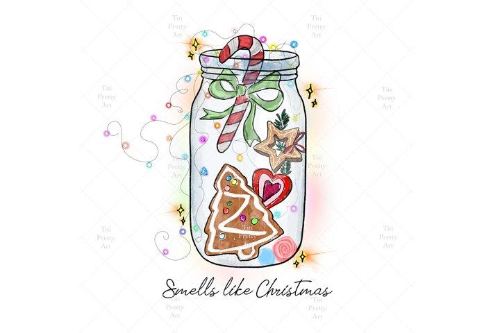 Merry Christmas Yall, Pine Tree Silhouette
