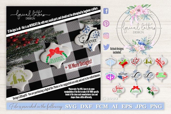 Ceramic Tile Christmas Ornament Bundle of 13 SVGs LL20Sept13