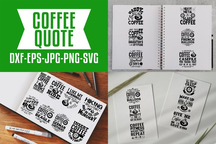 Coffee Quotes V7 Black