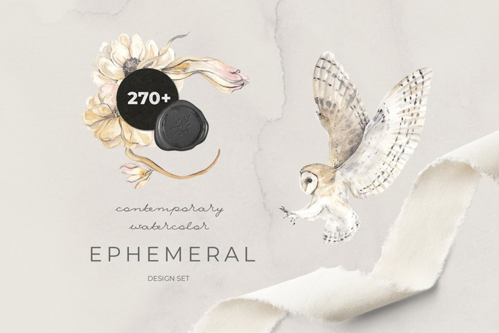 EPHEMERAL contemporary watercolor design set